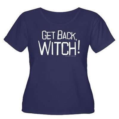 Get Back Witch Women's Plus Size Scoop Neck T-Shirt