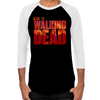 The Walking Dead Blood Logo Mens Baseball T-Shirt