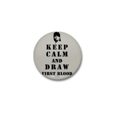 Keep Calm Rambo Mini Button