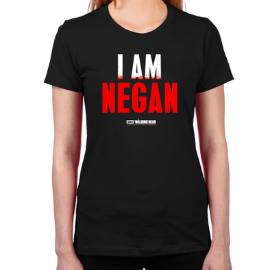 TWD I Am Negan Women's Fitted T-Shirt