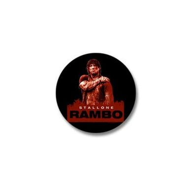 Rambo Stallone Rain Mini Button