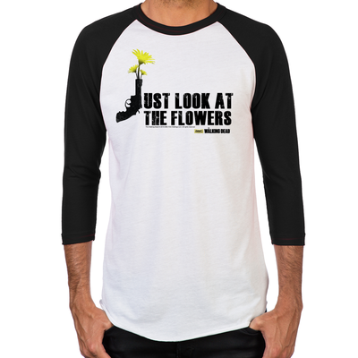 Just Look At The Flowers Men's Baseball T-Shirt