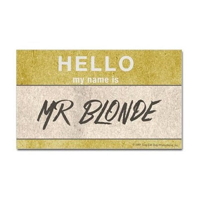 Hello Mr. Blonde Sticker