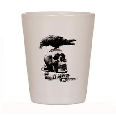 Skull Tattoo Shot Glass
