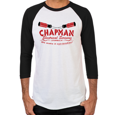 Chapman's Electrical Men's Baseball T-Shirt