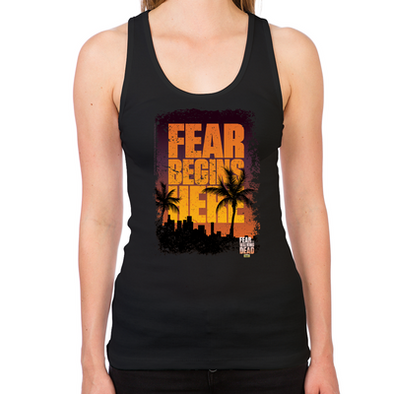FTWD Fear Begins Here Women's Racerback Tank
