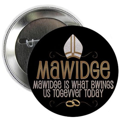 Mawidge Wedding Button