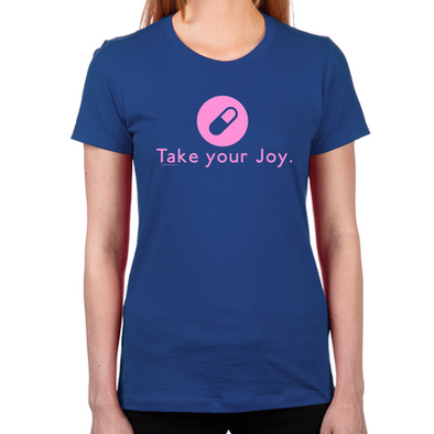 Take-Your-Joy-Womens-Fitted-T-Shirt