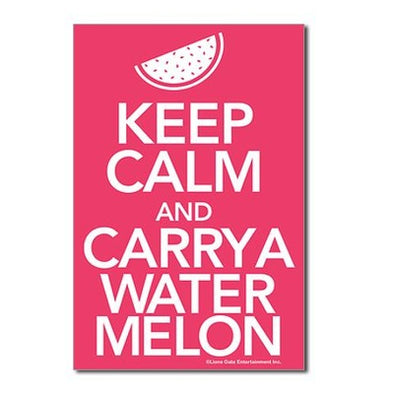 Keep Calm and Carry a Watermelon Postcards (Package of 8)