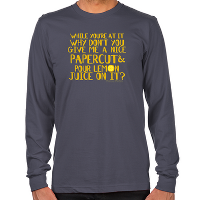 Lemon Juice Long Sleeve T-Shirt
