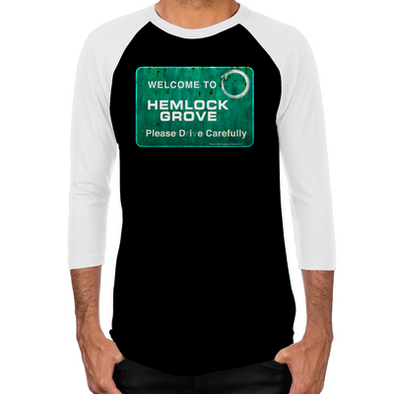Welcome Hemlock Grove Men's Baseball T-Shirt