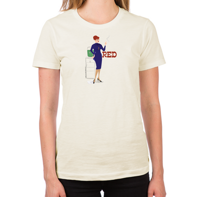 Mad Men Red Women's Fitted T-Shirt