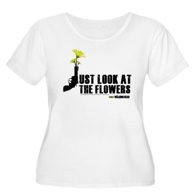 Just Look At Flowers Women's Plus Size T-Shirt