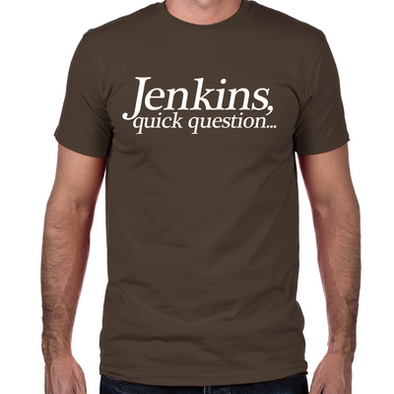 Jenkins Quick Question Fitted T-Shirt