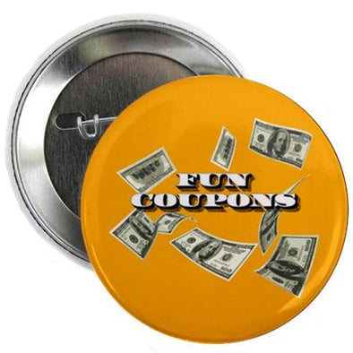 "Wolf of Wall Street Fun Coupons 2.25"" Button"