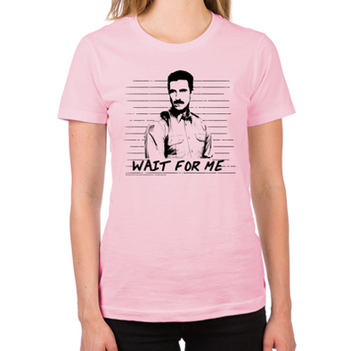 Mendez Wait for Me Women's Fitted T-Shirt