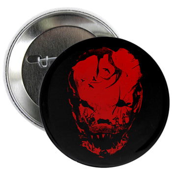 Bloodletting Mask Red 2.25 Button