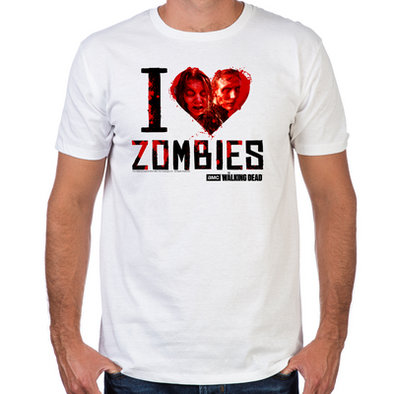 I Heart Zombies Fitted T-Shirt