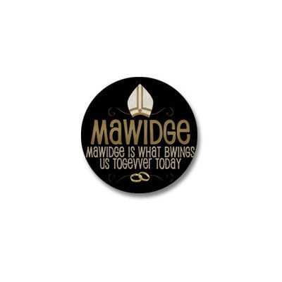 Mawidge Wedding Mini Button