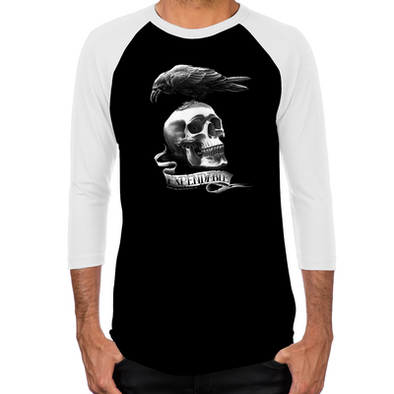 Skull Tattoo Baseball T-Shirt