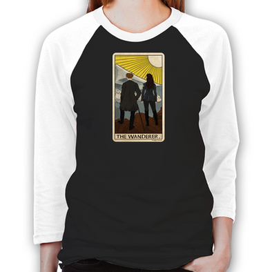 Lost Girl Wanderer Tarot Women's Baseball T-Shirt