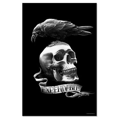 Expendables Skull Tattoo Large Poster