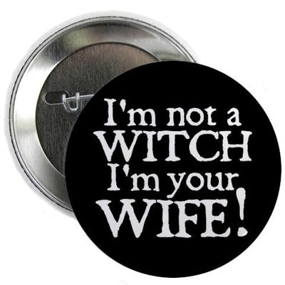 Witch Wife Button