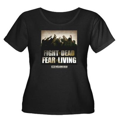 Fight the Dead, Fear the Living Women's Plus Size T-Shirt