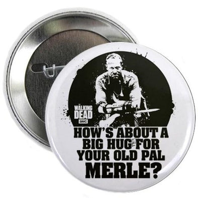 Walking Dead Merle Big Ole Hug Button