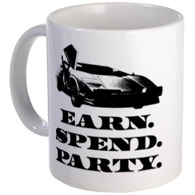 Wolf of Wall Street EARN SPEND PARTY Mug