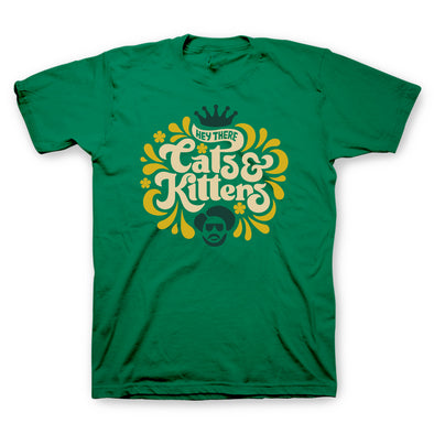 Cats and Kittens Kelly Green T-Shirt