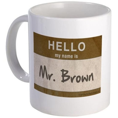 Hello Mr. Brown Mug