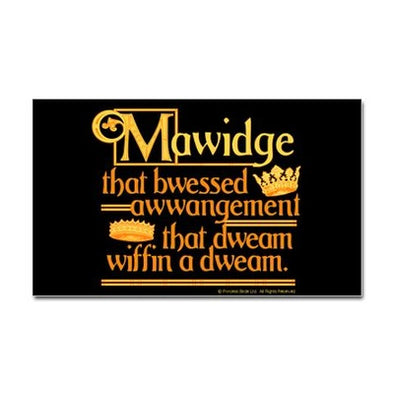 Mawidge Speech Sticker