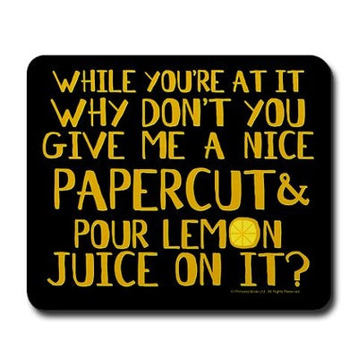 Lemon Juice Mousepad