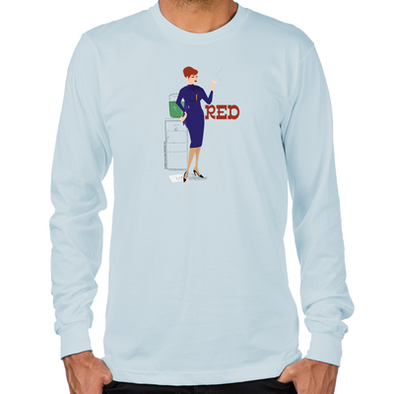 Mad Men Red Long Sleeve T-Shirt