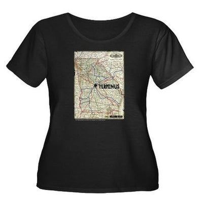 Terminus Map Women's Plus Size T-Shirt