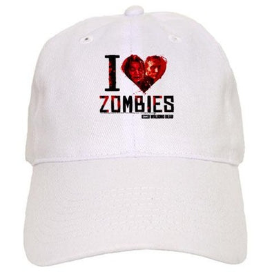 I Heart Zombies Baseball Cap