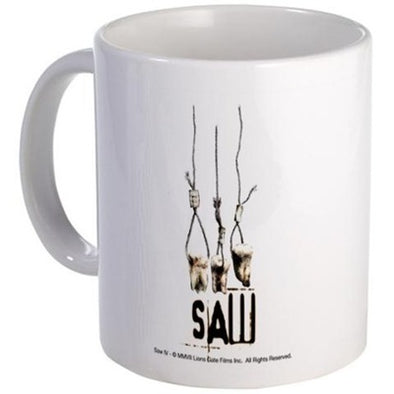 Saw Pulling Teeth Mug