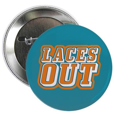 Ace Ventura Laces Out Button