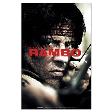 Rambo Close Up Large Poster