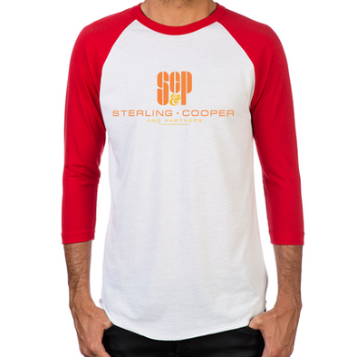 SCP Mad Men Logo Men's Baseball T-Shirt