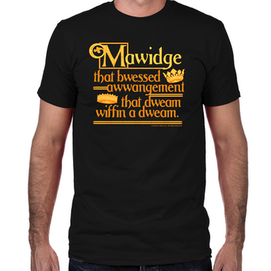 Mawidge Speech Fitted T-Shirt