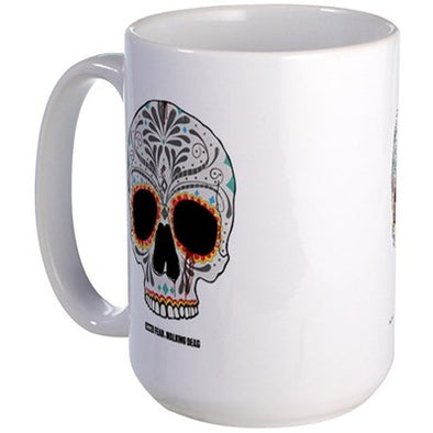 Day of The Dead Skull Large Mug