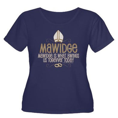 Mawidge Women's Plus Size Scoop Neck T-Shirt
