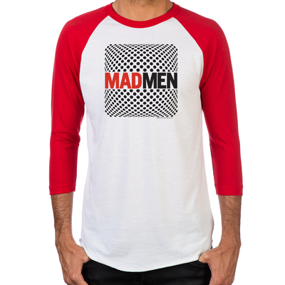 Mad Men Pop Art Men's Baseball T-Shirt