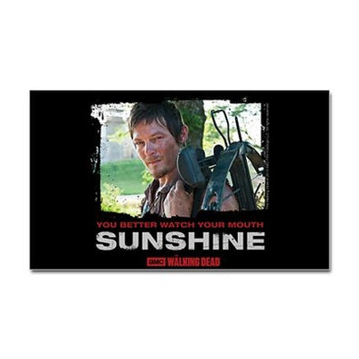 Daryl Dixon Watch Your Mouth Sticker