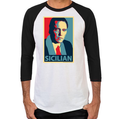 Sicilian Men's Baseball T-Shirt