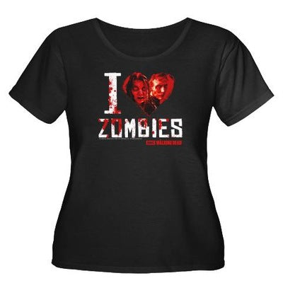 I Heart Zombies Women's Plus Size T-Shirt