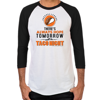 Taco Night Men's Baseball T-Shirt