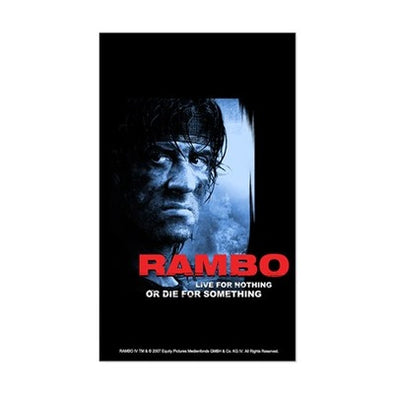 Rambo Die For Something Sticker